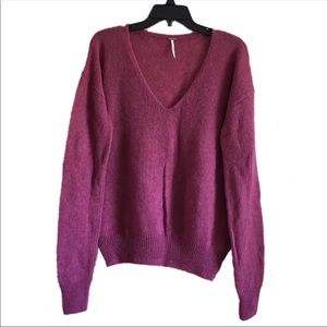 [Free People] Oversized Alpaca v-neck Sweater A2